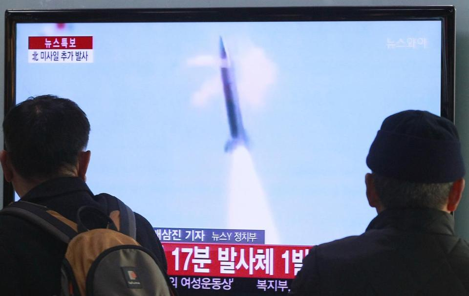 South Korean television reported on the new rocket launcher that North Korea has been developing.