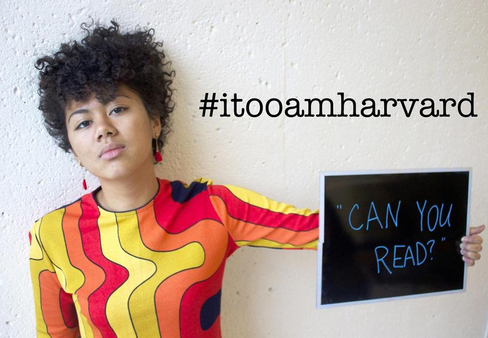 "Kimiko Matsuda-Lawrence, a Harvard sophomore, started the ""I, too, am Harvard"" project."