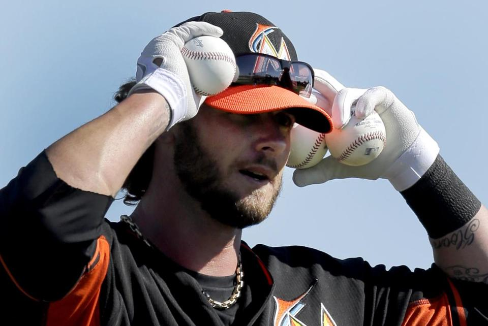 Jarrod Saltalamacchia joined the Marlins in the offseason.