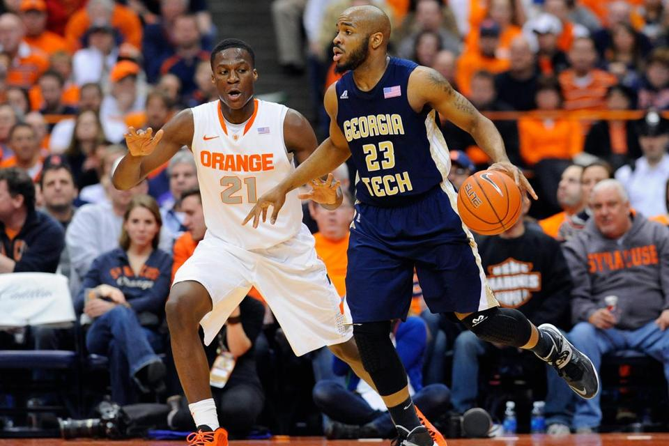 Trae Golden scored 16 points for Georgia Tech in the Yellow Jackets' upset of slumping No. 7 Syracuse.