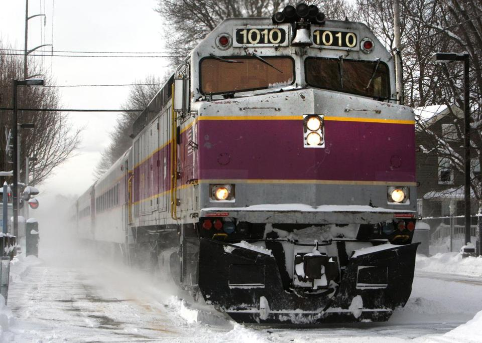 An MBTA commuter rail train, operated by Massachusetts Bay Commuter Railroad Co., pulled into the Montserrat stop in Beverly earlier this year.