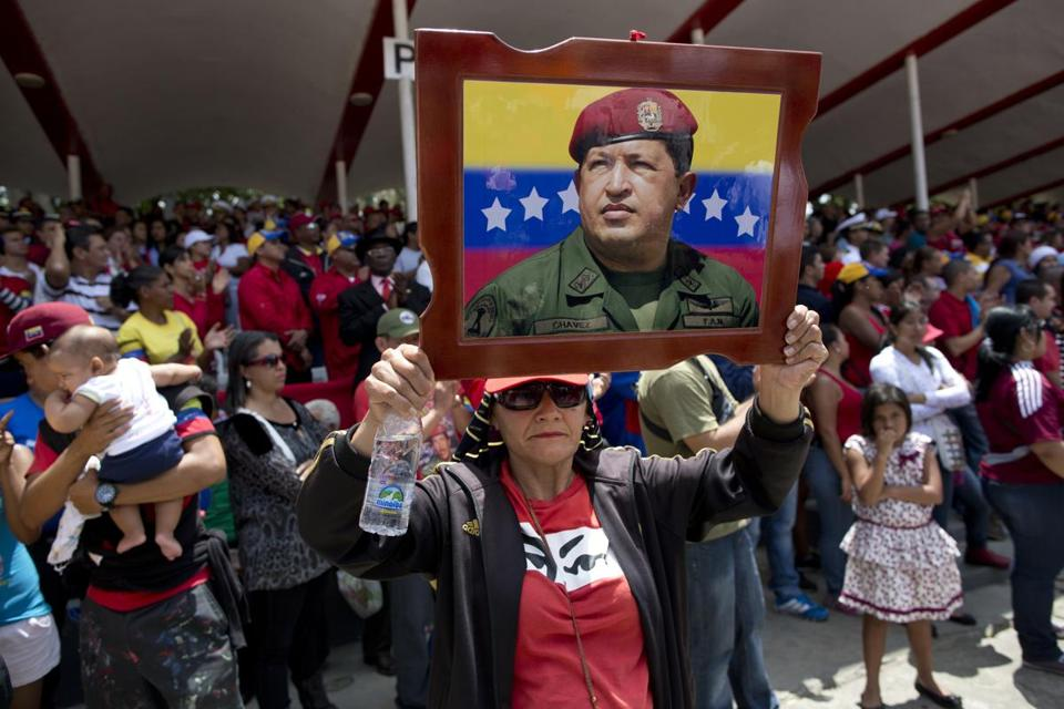 Many turned out in Caracas on Wednesday for a parade honoring the late Hugo Chavez.