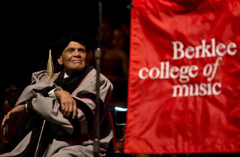 Harry Belafonte said the Berklee doctorate is especially meaningful.