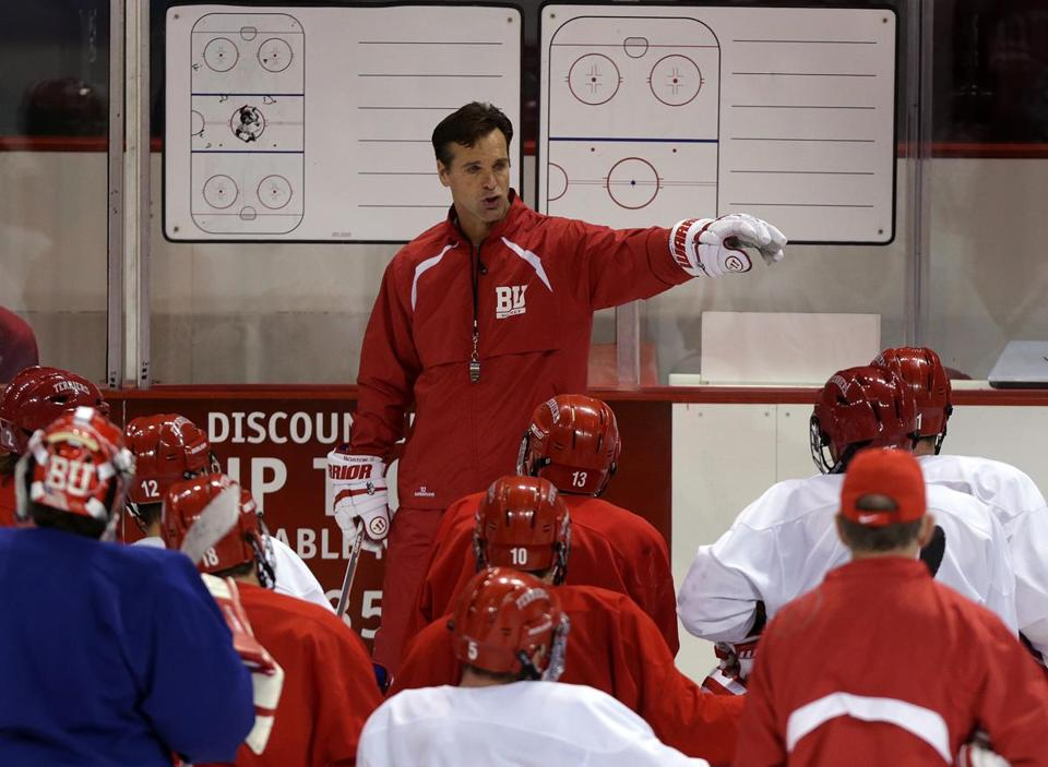 Boston University hockey coach David Quinn has struggled in his first year replacing Jack Parker.