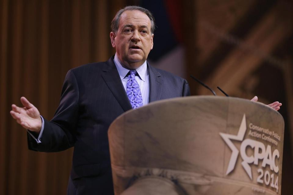 ''If this nation forgets our God, then God will have every right to forget us,'' former Arkansas Governor Mike Huckabee said.
