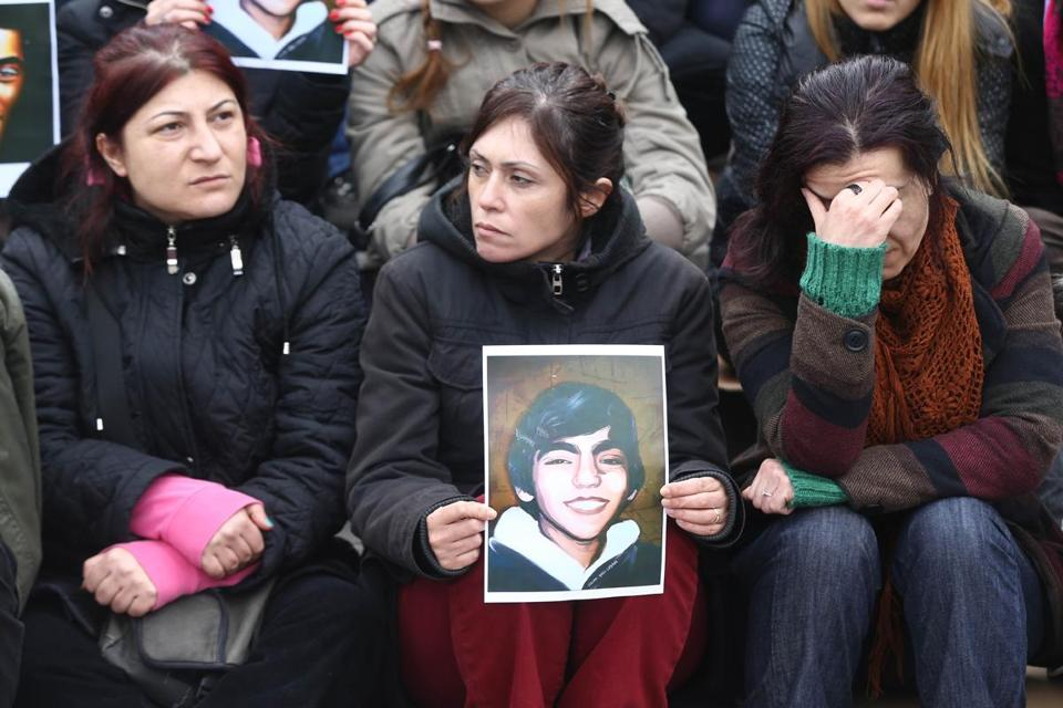 Protesters remembered Berkin Elvan, who died nine months after being hit with a police tear-gas canister.