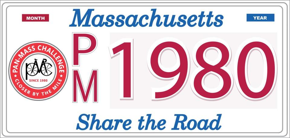 Proposed charity license plates include those offering support for Atlantic white sharks and the Pan-Mass Challenge.