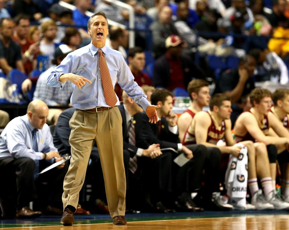 Steve Donahue coached his BC team to an overtime loss in the first round of the ACC tournament on Wednesday.