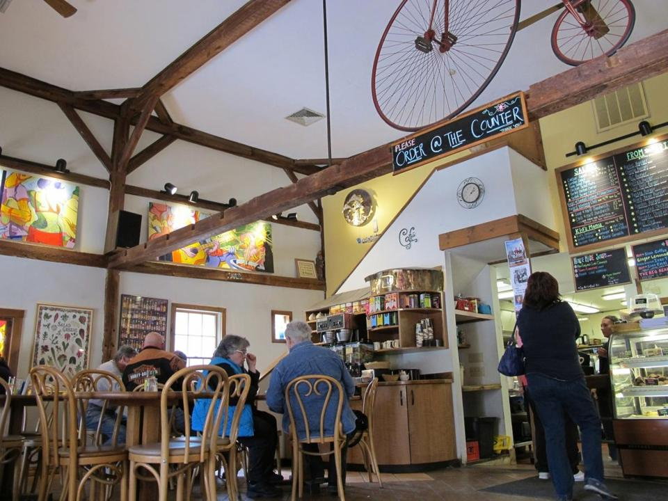 The Vanilla Bean Café offers light entrees in a restored 19th-century barn.