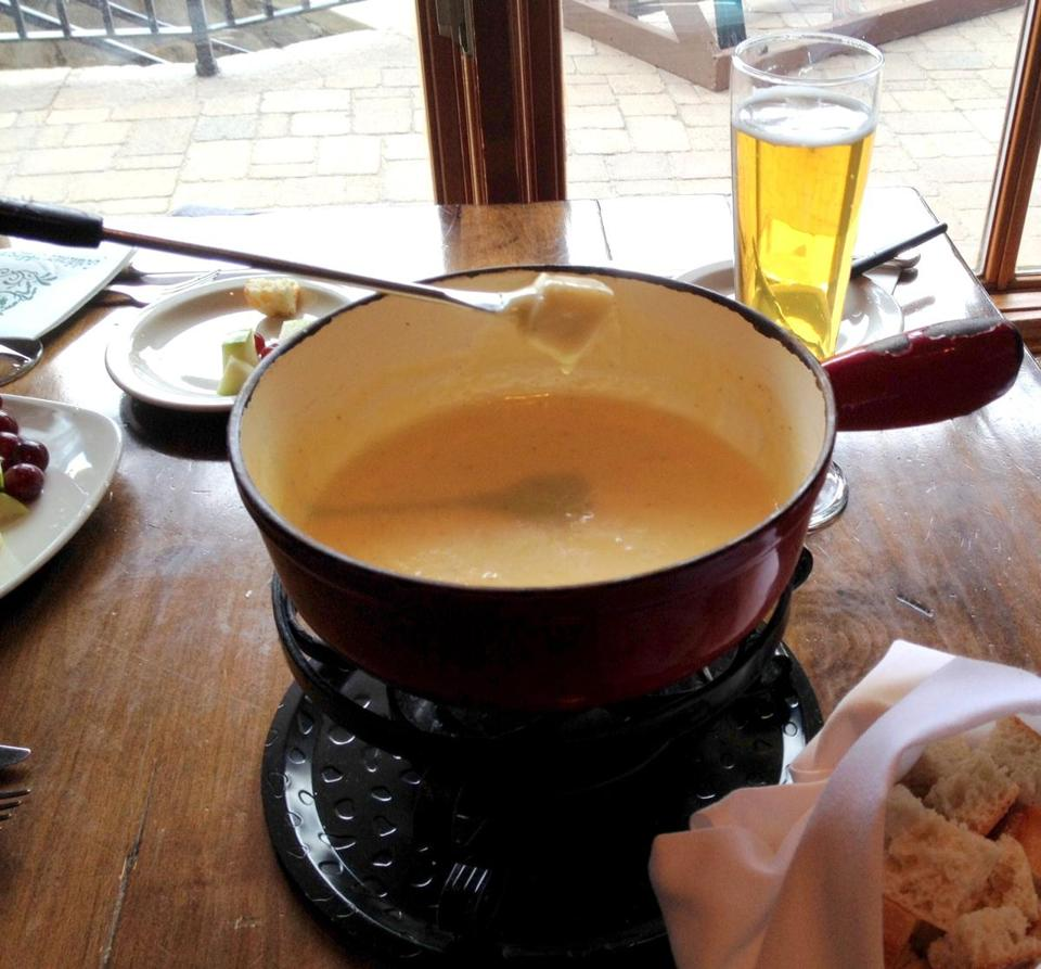 At the Goldener Hirsch Inn at Deer Valley resort cheese fondue is a staple.