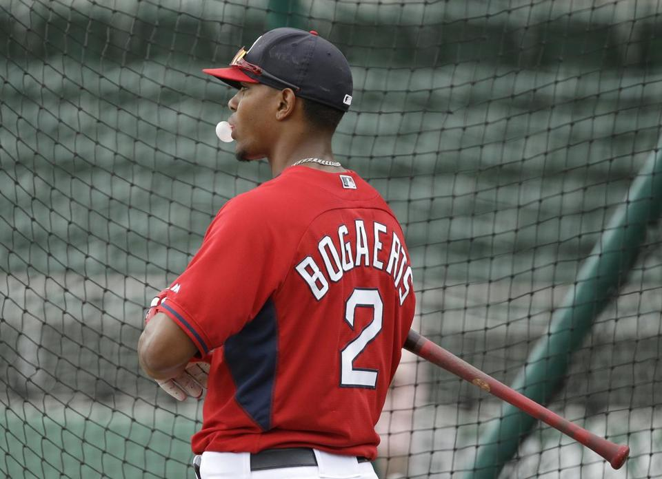 The number 2 on Xander Bogaerts's back is there for a reason. . (AP Photo/Steven Senne)