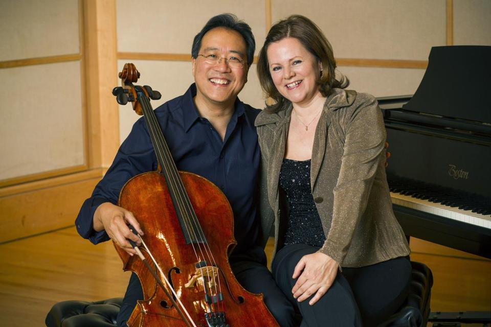 Cellist Yo-Yo Ma and pianist Kathryn Stott teamed up for a program that featured music by, among others, Stravinsky, Messiaen, and Brahms.