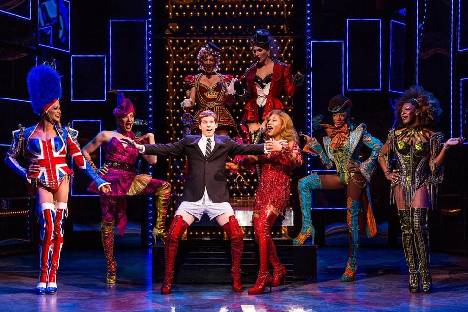 "Clockwise (from top): The casts of ""Kinky Boots, ""Newsies,"" and ""Motown,"" three of the productions that will visit Boston theaters as part of Broadway in Boston's 2014-15 season."