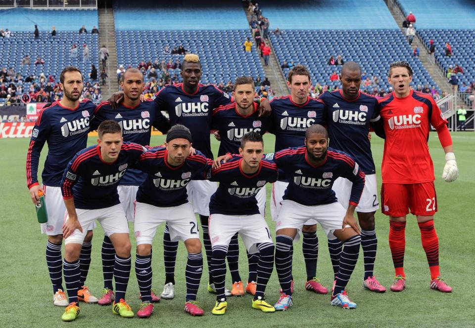 New England Revolution starters posed last March.