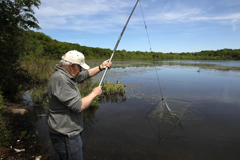 Semyon Rudyak fished at Hammond Pond, where he wants to build a floating walkway to honor the memory of his son, Semyon Rudyak, a Russian developer who died at age 46 .