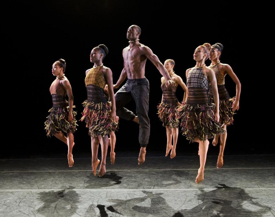 "Members of Alvin Ailey American Dance Theater perform ""LIFT,"" choreographed by Aszure Barton."