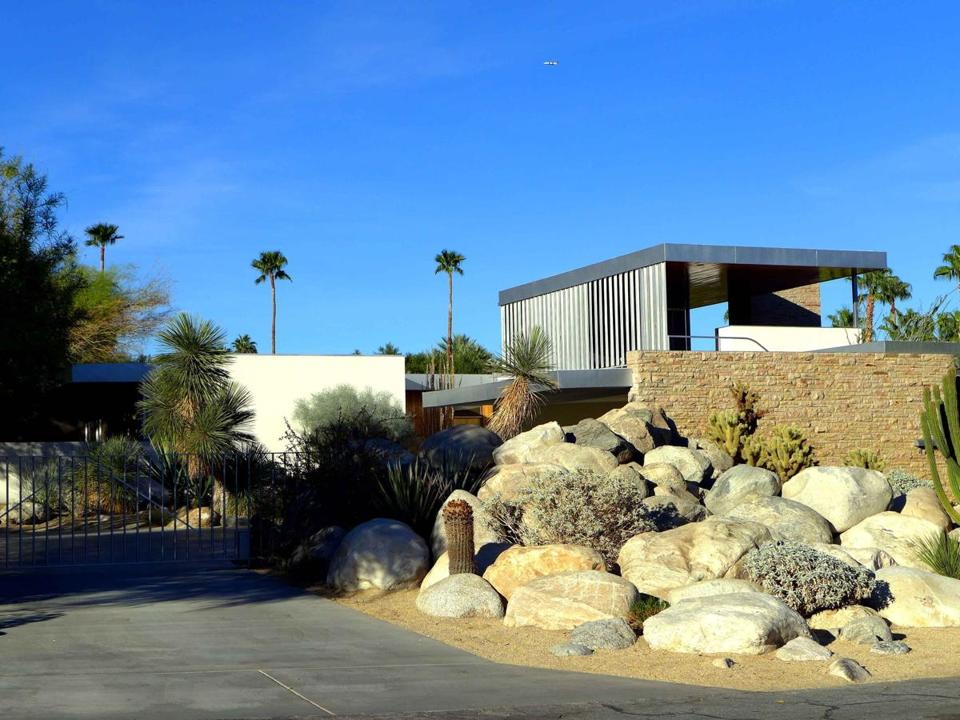The Kaufmann House in Palm Springs is considered Richard Neutra's Modernist masterpiece.(David Lyon for The Boston Globe)