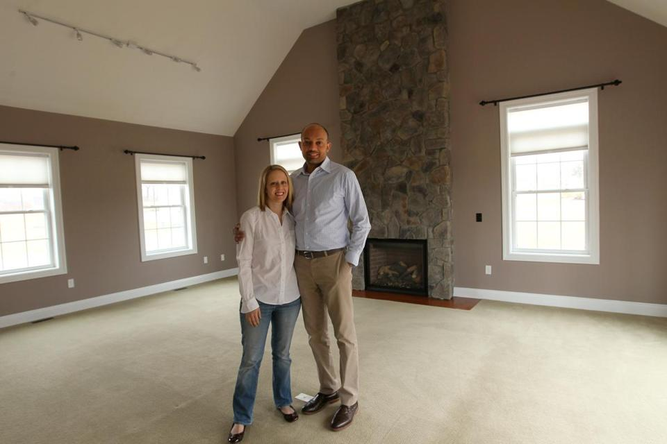 Kimberly and Gary Cooper extended their home search north from Andover and wound up buying a house in a new subdivision in Bradford.