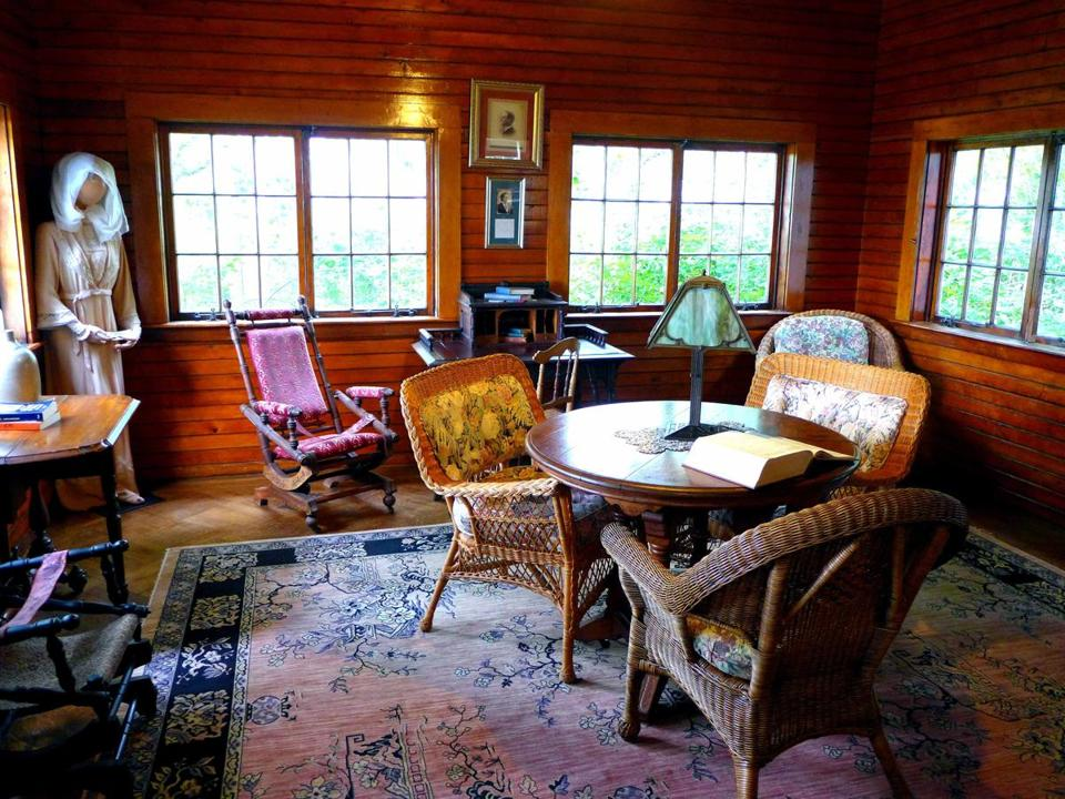 "Inside Eugene O'Neill's boyhood summer home is a room set up to reflect the playwright's stage directions for ""Long Day's Journey Into Night."""