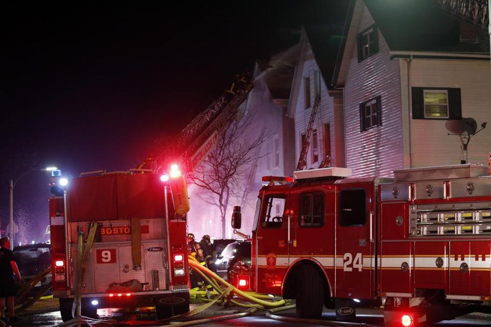 Firefighters Battled An Eight Alarm Blaze That Started On Lexington Street Wednesday Night No