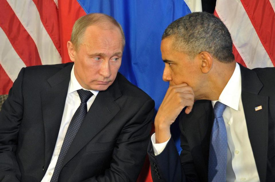 President Obama (right) and Russia's President Vladimir Putin.