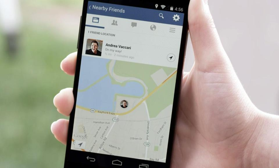 Andrea Vaccari's location was shown in a Facebook smartphone demonstration.