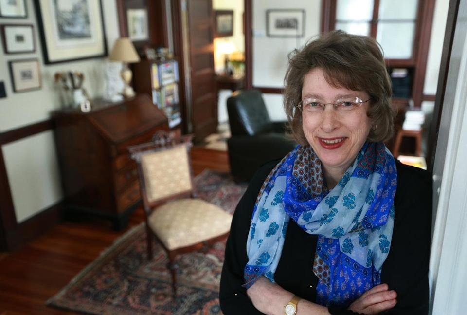 Megan Marshall, in her Belmont apartment. She won this year's Pulitzer Prize for her biography of Margaret Fuller.