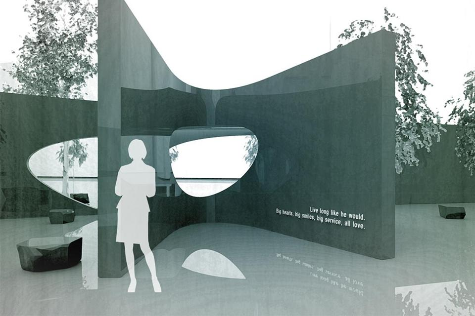 The proposed Sean Collier memorial on the MIT campus.