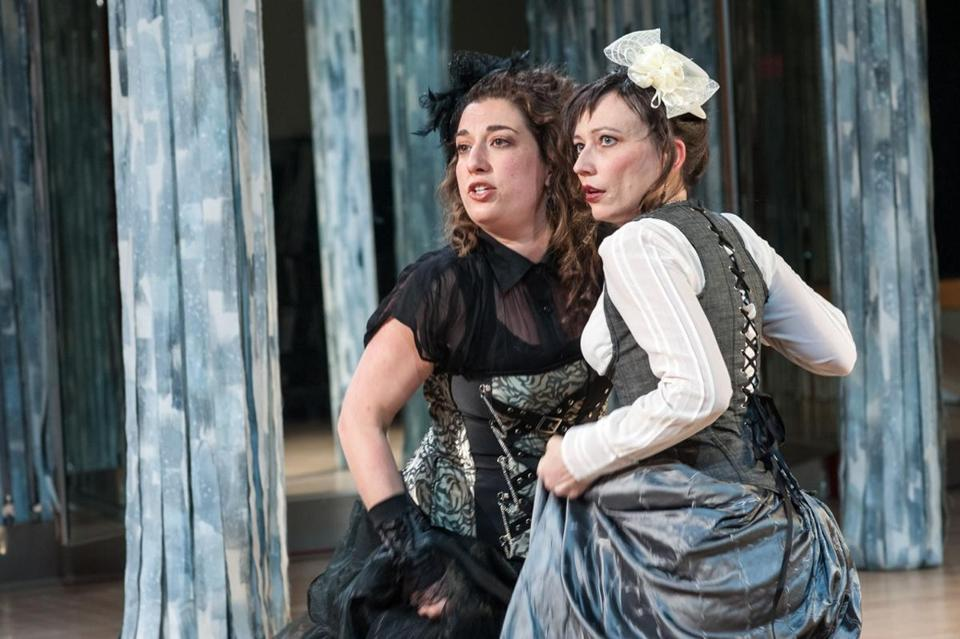 "Brooke Hardman (left) and Mara Sidmore in a scene from ""As You Like It."""