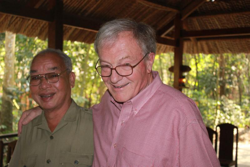 Author Michael Shanahan with Nguyen Chia, a former Viet Cong soldier.