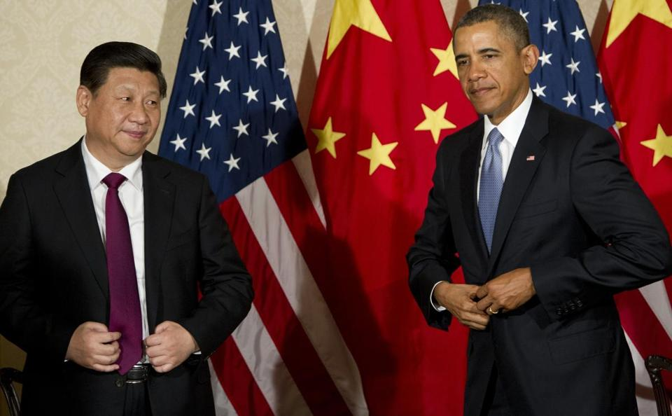 President Obama with China's president, Xi Jinping, in The Hague on March 24 for a nuclear security summit.