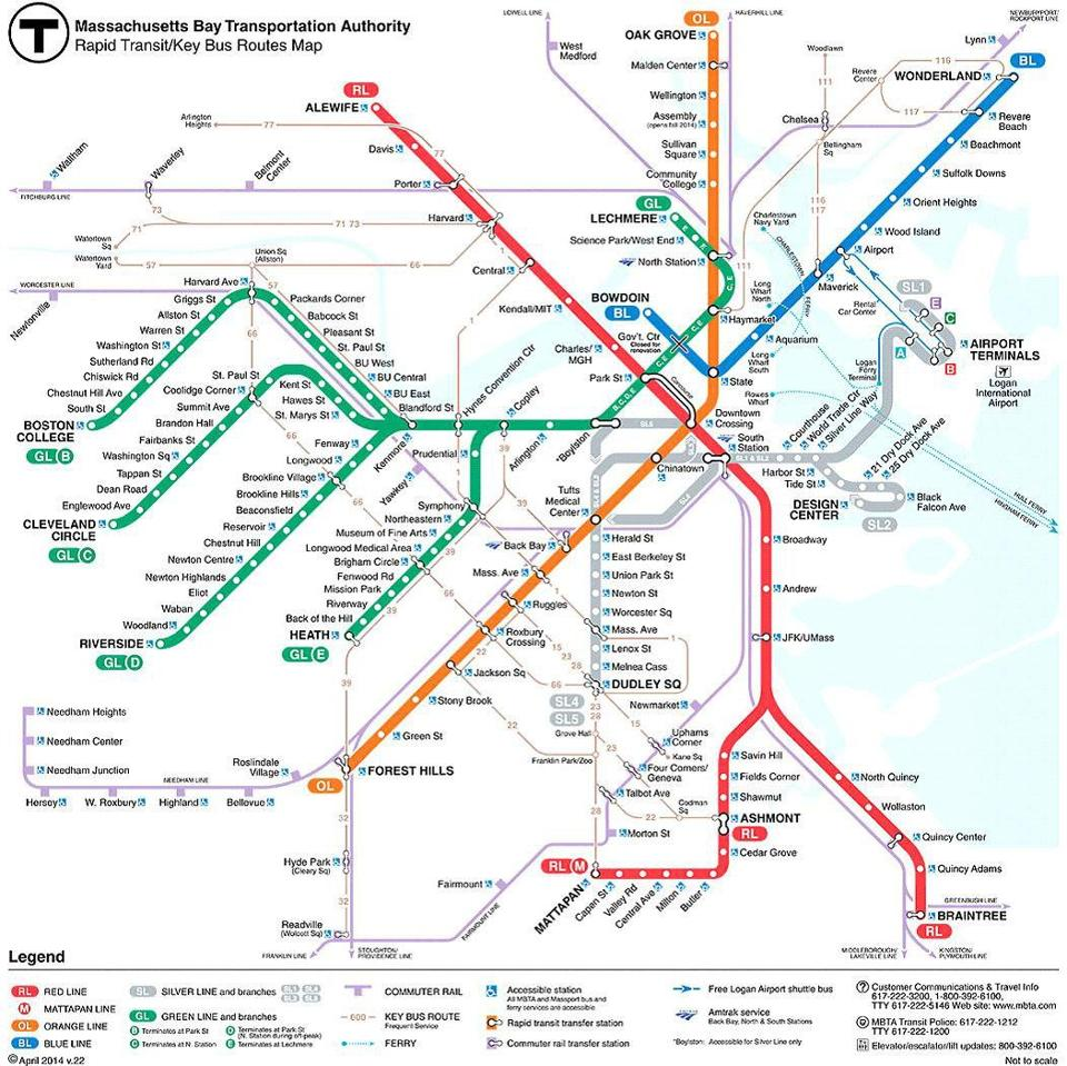 Green Line Boston Map outside the lines 6 maps that re imagine ...