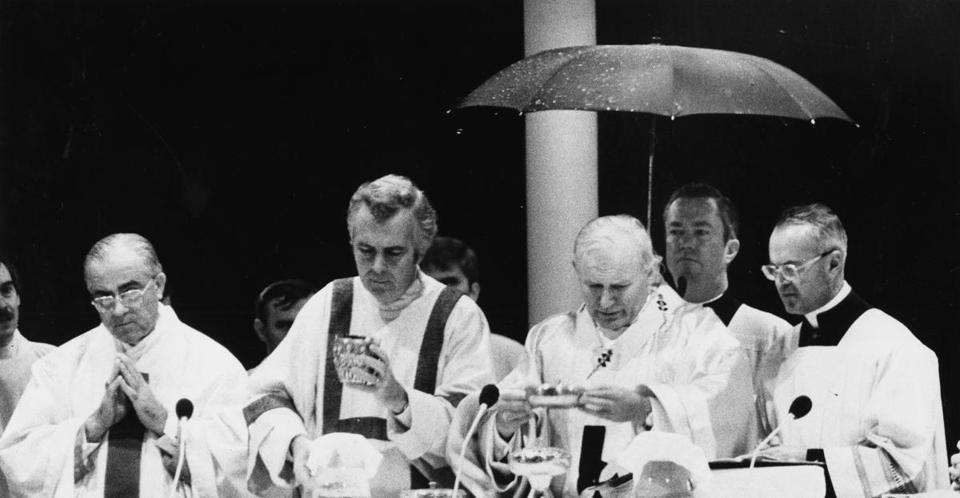 Pope John Paul II celebrated Mass on Boston Common in October 1979, which drew an estimated 400,000 people.