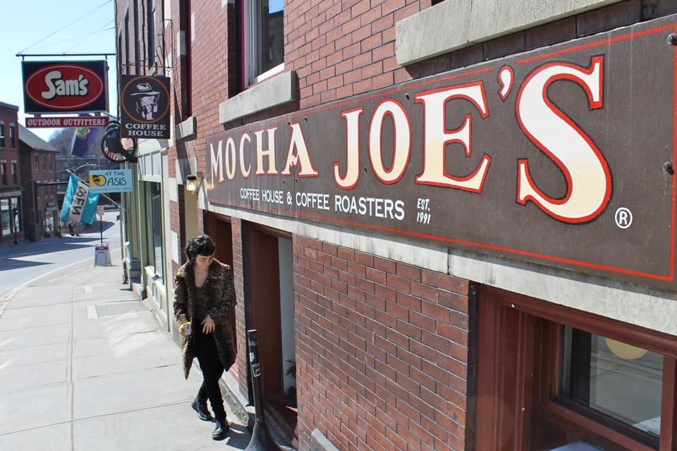 On Main Street, Mocha Joe's coffee shop opens at 7 a.m. weekdays and 7:30 a.m. weekends.