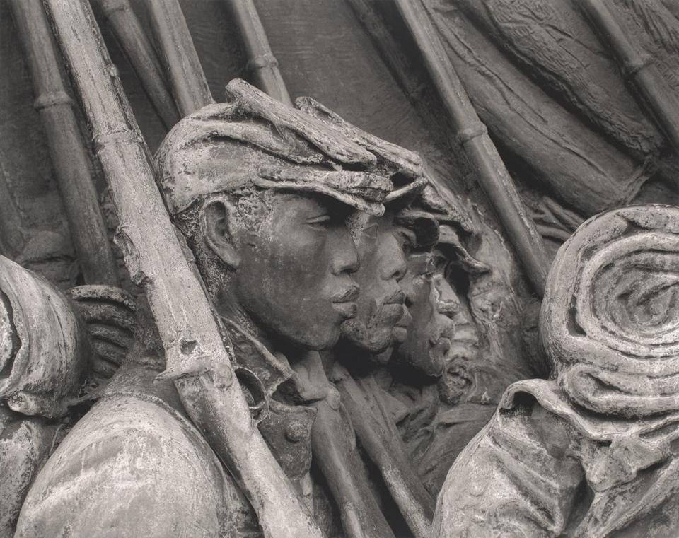 A detail from Augustus Saint-Gaudens's bas-relief Shaw Memorial.