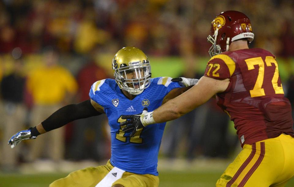 UCLA's Anthony Barr (left). AP Photo/Mark J. Terrill