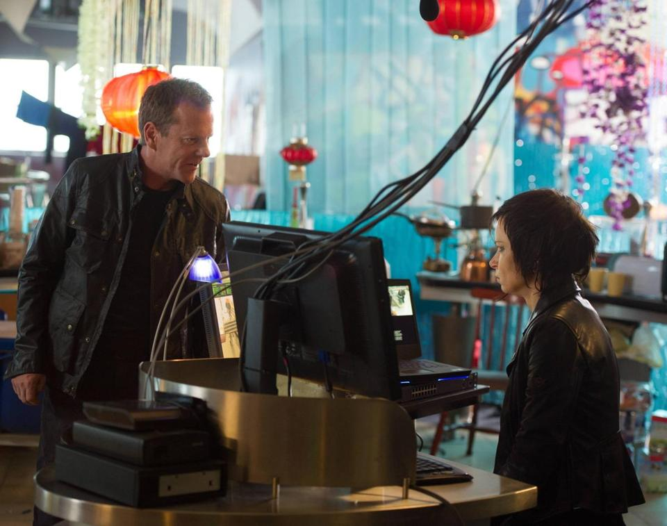 "Kiefer Sutherland with Mary Lynn Rajskub in the two-hour season premiere of ""24: Live Another Day,"""