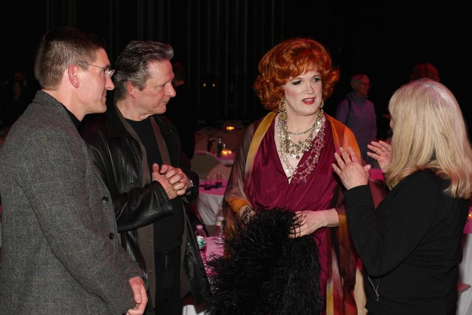 From left: Steven Maler, Chris Cooper, Charles Busch, and Marianne Leone Cooper at Maler's BabsonARTS event.