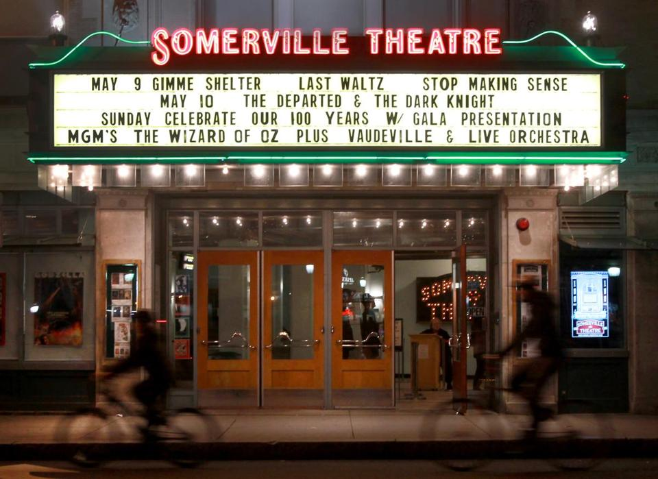 The Somerville Theatre is celebrating its centenary with a gala — black tie encouraged.