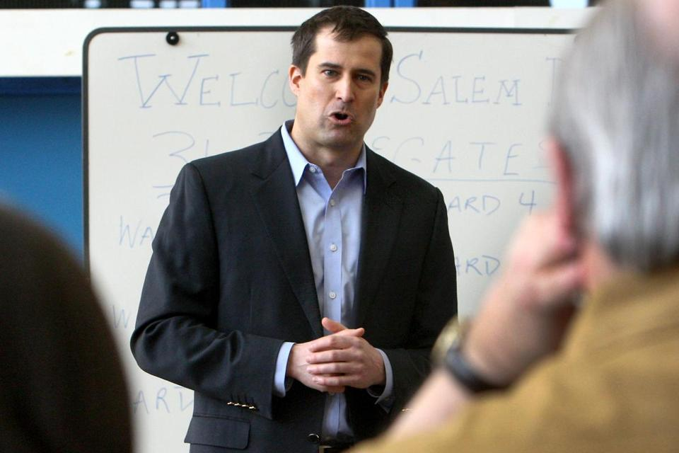 """We just had the most ineffective Congress in our nation's history and we can do better,"" says Seth Moulton, who is running against John. J. Tierney."