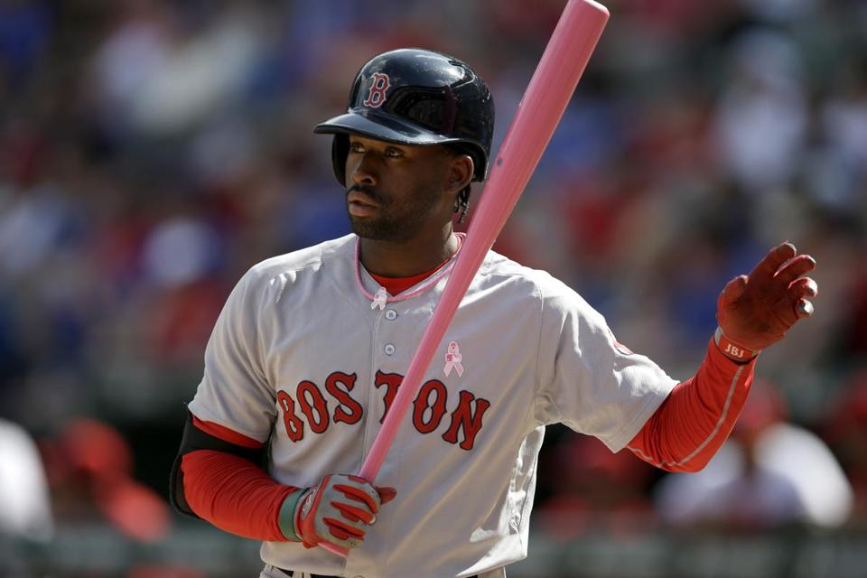 Though his power has yet to show in the majors, the Red Sox think Jackie Bradley Jr. can become a consistent provider of extra-base hits. (AP Photo/Tony Gutierrez)