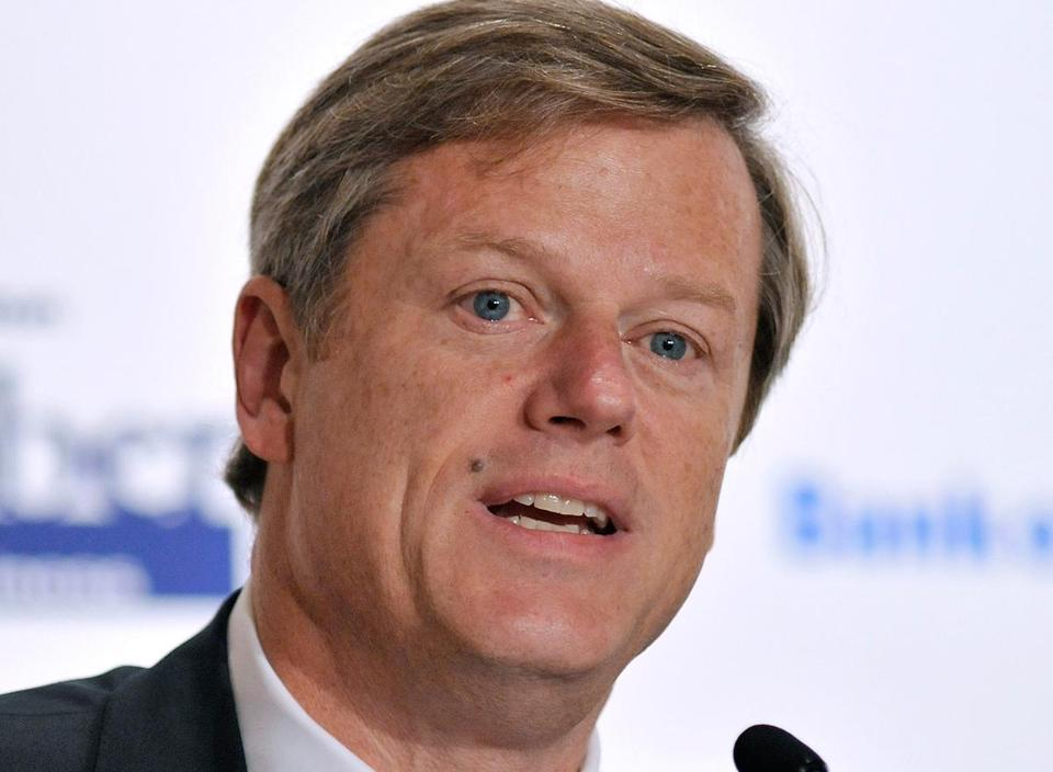 Charlie Baker addressed a number of other issues, from welfare reform to lowering health care costs, at the forum, held at the University of Massachusetts Club.