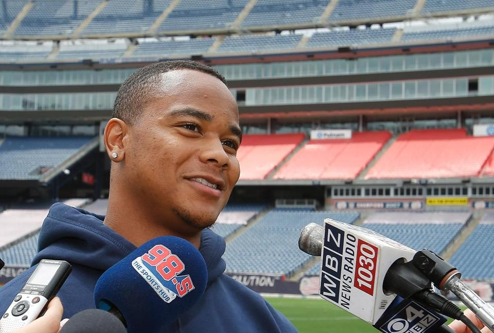 Seventh-round pick Jeremy Gallon was introduced by the Patriots on Thursday.
