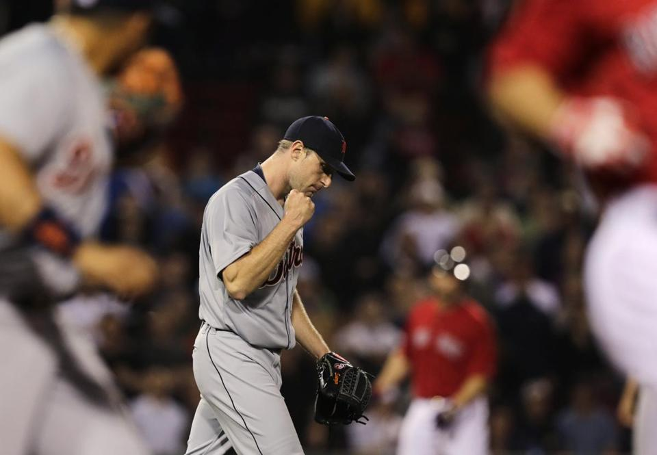 Max Scherzer pumped his fist during the sixth inning.