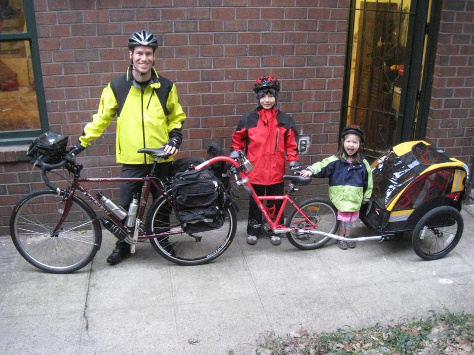 "Charles R. Scott (with his son and daughter) brings his ""Cycling Iceland With Kids"" to the Regent Theatre on May 28."