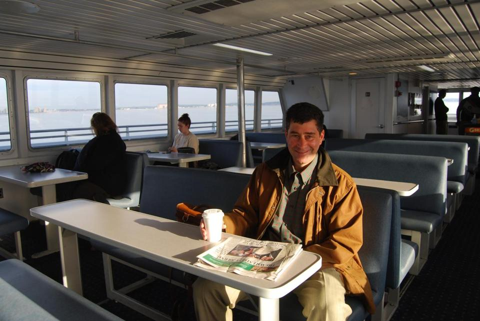 Stuart Feldman of Swampscott, a Boston lawyer, says he plans to use the Lynn ferry regularly for his commute to the city.