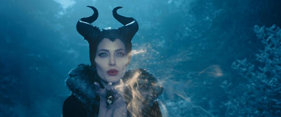 "Maleficent, (above) played by Angelina Jolie in the recently released movie of the same name, and (below) in the 1959 Disney movie ""Sleeping Beauty."""