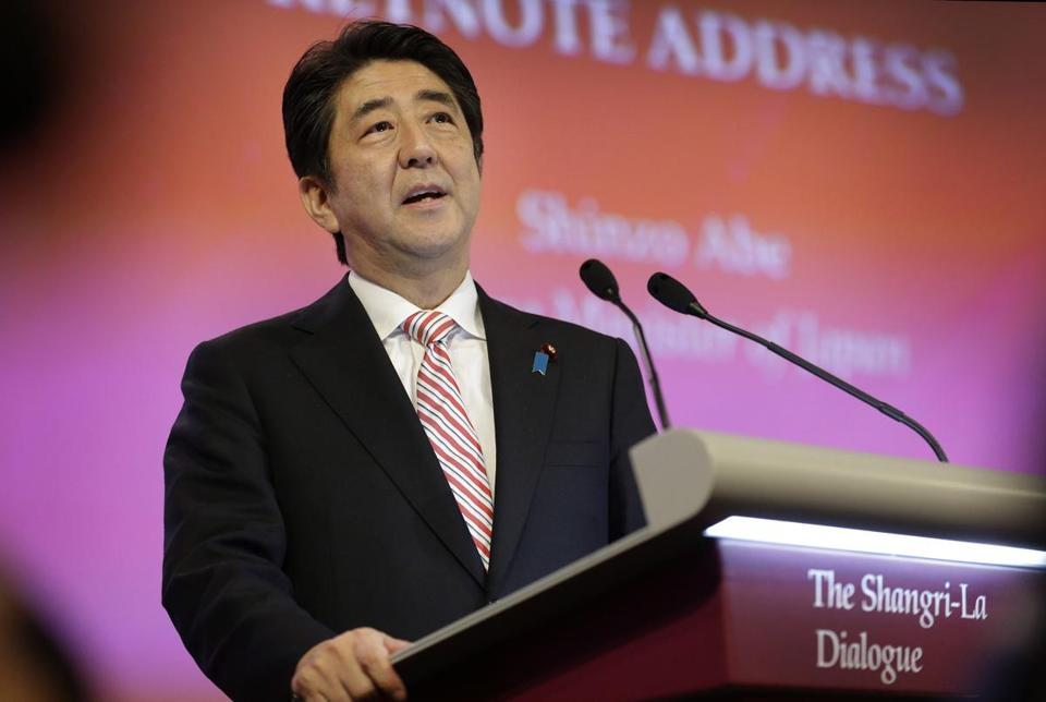 Shinzo Abe wants Japan to take a larger security role in East Asia.