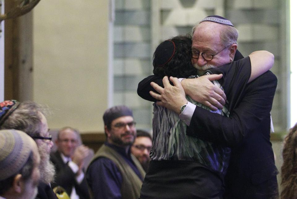 Joel Baron was one of 14 graduates who were ordained as rabbis on June 1 at Temple Mishkan Tefila in Chestnut Hill.