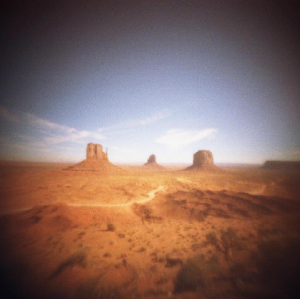Monument Valley is one of the works in the Somerville Toy Camera Festival, which features toy camera photography, through June 29 at five locations in the city.